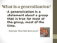 Making Generalizations Powerpoint Lesson