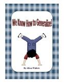 Making Generalizations Packet