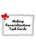 Making Generalizations Photo Task Cards