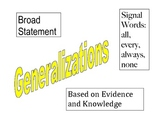 Making Generalizations Poster