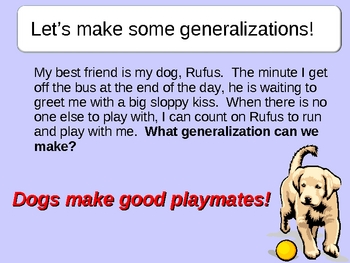 Making Generalizations Power Point Lesson