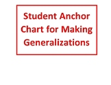Making Generalizations student bookmarks and reference tool