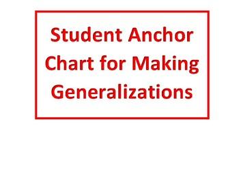 Making Generalizations Student Anchor Chart