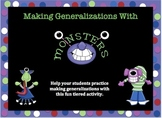 Making Generalizations with Monsters Activities Tiered