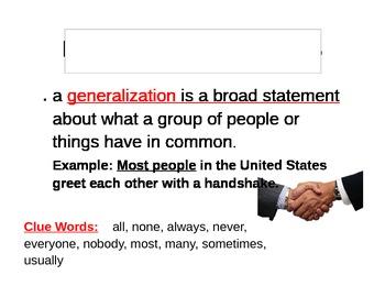 Making Generlizations Visuals- Valid or Invalid?