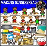 Making Gingerbread Clip Art Set {Educlips Clipart}