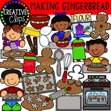 Making Gingerbread Cookies: Christmas Clipart {Creative Clips Clipart}