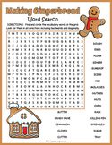 Making Gingerbread Word Search Puzzle