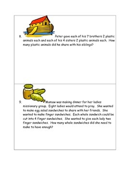 Math-1st Grade Word Problems, Making Godly Choices (Home or Christian School)