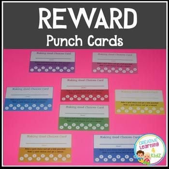 Behavior Reward Punch Cards Making Good Choices