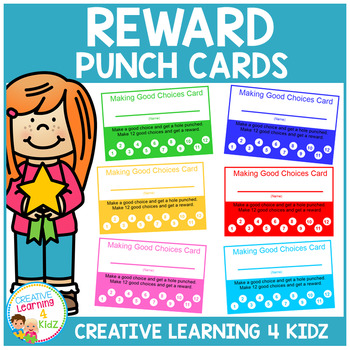 Behavior Reward Punch Cards Making Good Choices
