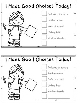 Making Good Choices Mini Unit