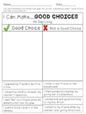 Making Good Choices...a classroom rules activity