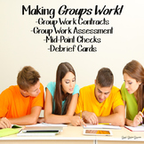 Group Work Contract and Debrief Cards Activity