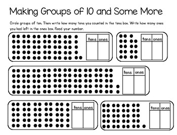 Making Groups of 10 and Some More