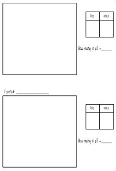 Making Groups of 10 for Place Value Tens and Teens 1.NBT.B.2