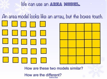 Making Hard Facts Easy - Distributive Property with Area Models SMARTboard