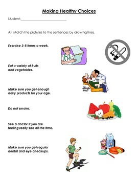Making Healthy Choices - Quiz or Activity Booklet
