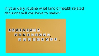 Making Healthy Decisions Power Point