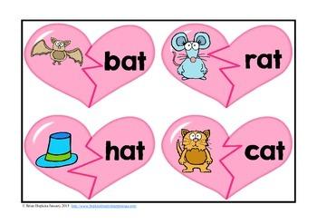 Making Hearts The CVC Way - CVC Heart Puzzles