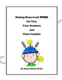 Making Homework Work for You, Your Students and Their Families