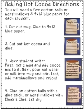 Making Hot Cocoa Writing & Art Project