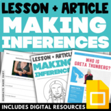 EARTH DAY Making Inferences Worksheets with DIGITAL Slide