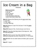 Making Ice Cream Directions