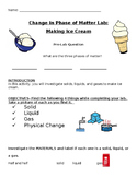 Making Ice Cream Lab: Phases of Matter