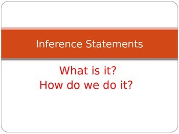Making Inference Statements Power Point