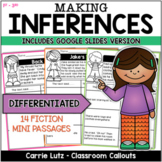 Making Inferences Worksheets   Inferring  Passages   Inference