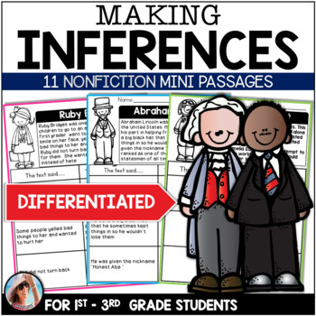 Nonfiction Inferring / Making Inferences ~ 11 Mini Passages Influential People