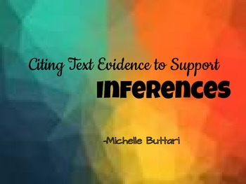 Making Inferences -Differentiated  Organizers Grades 4-12