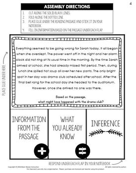 Making Inferences - 3-Day Interactive Notebook Mini-Unit to Help Students Infer