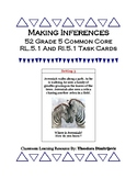 Making Inferences 52 Grade 5 CCSS RL.5.1 & RI.5.1 Task Cards *With Answer Key!