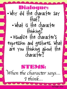 Making Inferences About Characters Using Dialogue, Actions, Thoughts & More