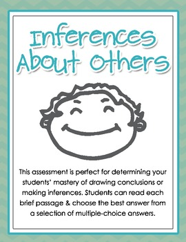 Making Inferences About Others - Multiple-Choice Assessment for Grades 2, 3, 4