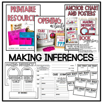 Making Inferences Activities and Craftivities
