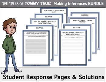 Making Inferences BUNDLE-5 Short Mystery Stories for Reading Comprehension