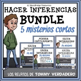 Making Inferences BUNDLE-5 Spanish Mystery Stories for Reading Comprehension