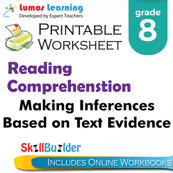 Making Inferences Based on Text Evidence  Printable Worksheet, Grade 8