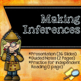 Making Inferences {Presentation, Notes, Independent Practice}