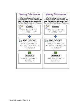 Making Inferences Bundle- task card activity and bookmarks