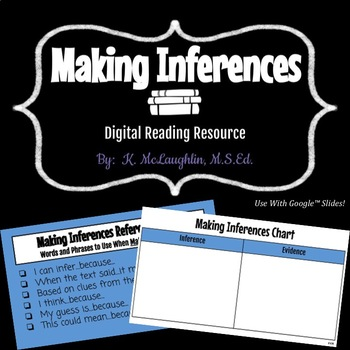 Making Inferences Chart {Created for Google™ Slides}