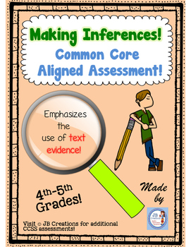 Making Inferences Common Core Assessment for Intermediate Grades