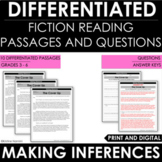 Making Inferences - Inferencing: Differentiated Reading Passages and Questions