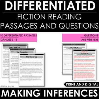 Making Inferences - Inferencing Reading Comprehension Passages and Questions