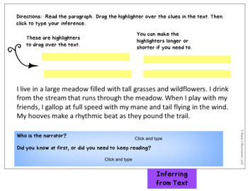 Making Inferences Digital Interactive Notebook for Google Classroom