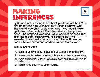 Making Inferences Digital Task Cards