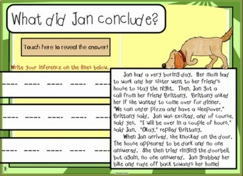 Making Inferences & Drawing Conclusions Smart Notebook Lesson